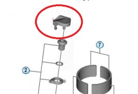 Shimano Capot Vis Serre Cable FD-R9100